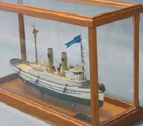 cherry and brass ship model case kit